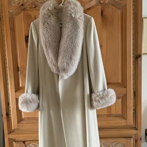 Long winter coat with real fur